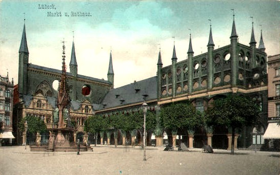 Market of Lübeck in the Year of 1905