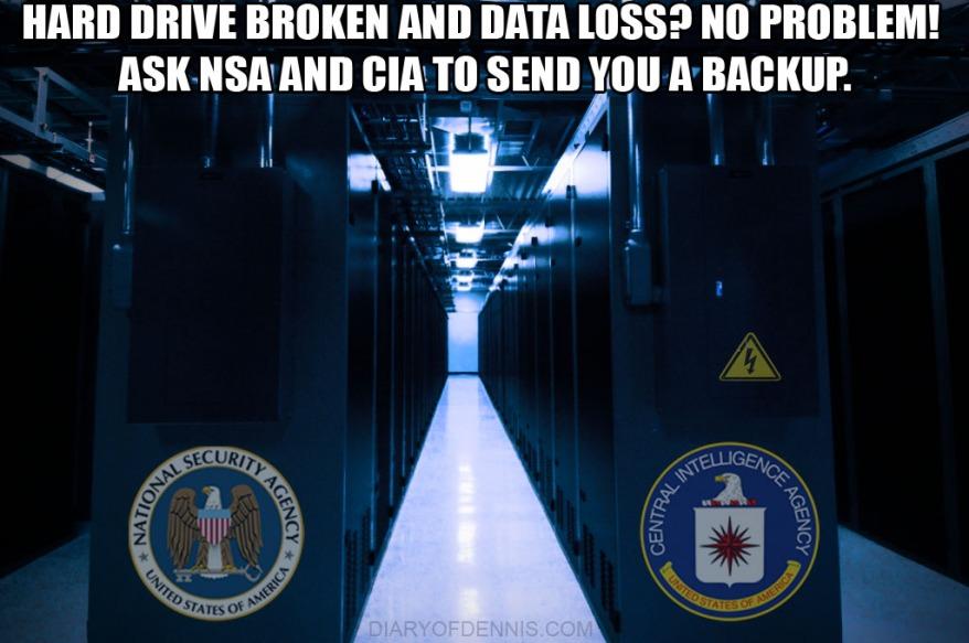 Funny Prism Meme. Funny NSA and CIA Data Center Meme.