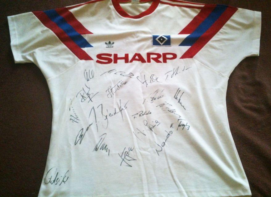HSV Trikot Saison 1990/91 von Adidas und Sponsor Sharp