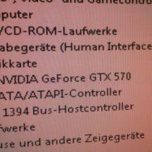 Damaged Gainward GeForce GTX570 Phantom