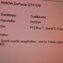 Problem with a Gainward GeForce GTX570 Phantom