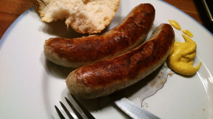 German Bratwurst and Mustard