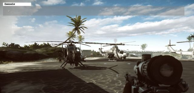 How to open the command console in Battlefield 4