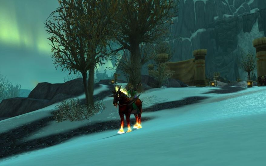 World of Warcraft Screenshot Warlock and Horse