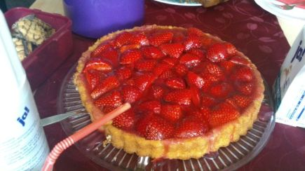 Uncles Strawberry Birthday Tart