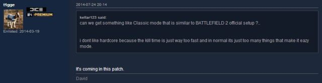 Battlefield classic mode for Battlefield 4 will come with the next patch