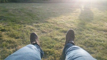 Enjoying last sunbeams with my new brown sneakers 2