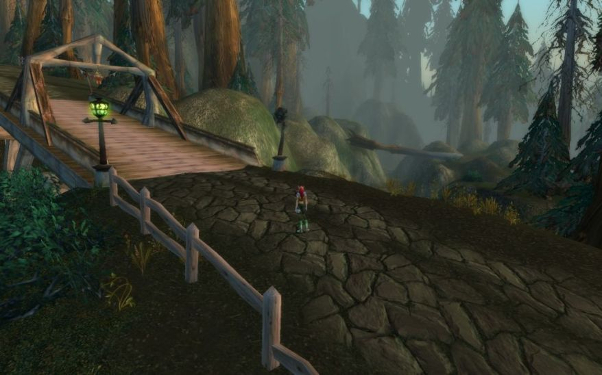 World of Warcraft Screenshot In A Forest
