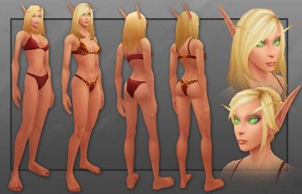Female Bloog Elf Model