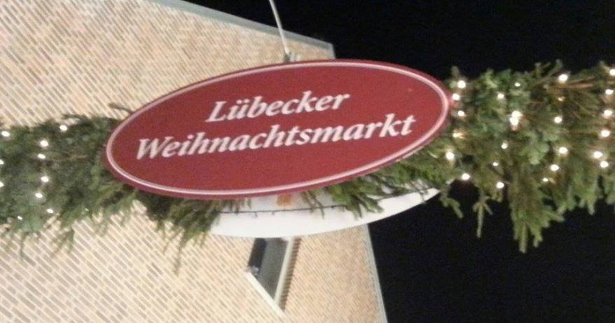 Christmas market sign of Luebeck