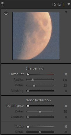Lightroom sharpening and nouse reduction