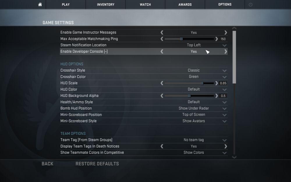 Cs go matchmaking network settings