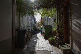 Beautiful side street in Lübeck