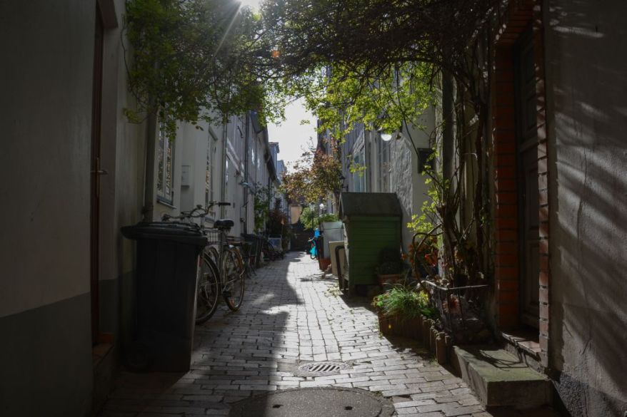 Beautiful side street in Lübeck