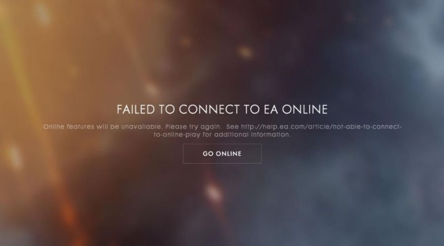 Battlefield 1 - Failed to connect to EA Online
