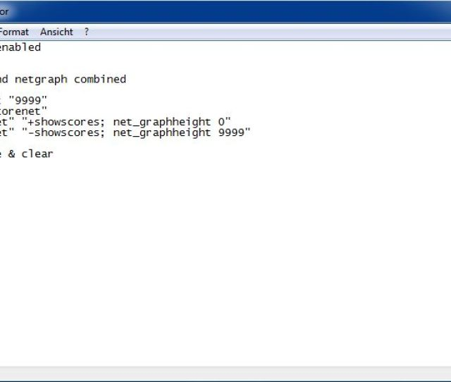 How It Could Look Like Autoexec Cfg Example