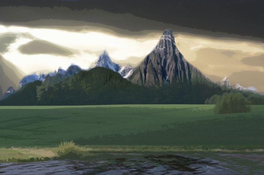 the-green-mountain-land-cutout-style