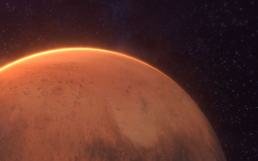 Tharsis game screenshot of the Mars