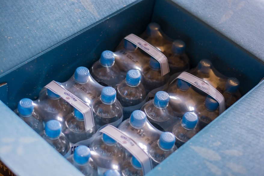 4 sic packs of Gerolsteiner mineral water
