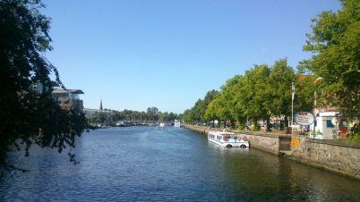 Trave River in Lübeck