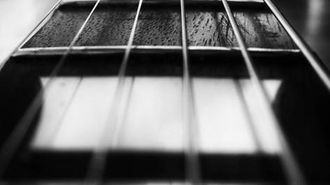 E-Guitar fretboard