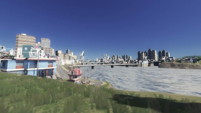 Cities Skylines Screenshot - City Riverbank