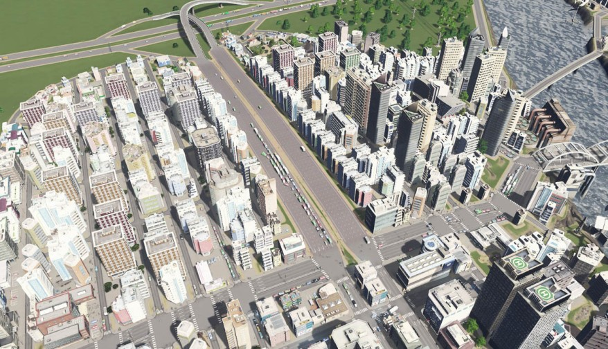 Cities Skylines Screenshot - Traffic Jam