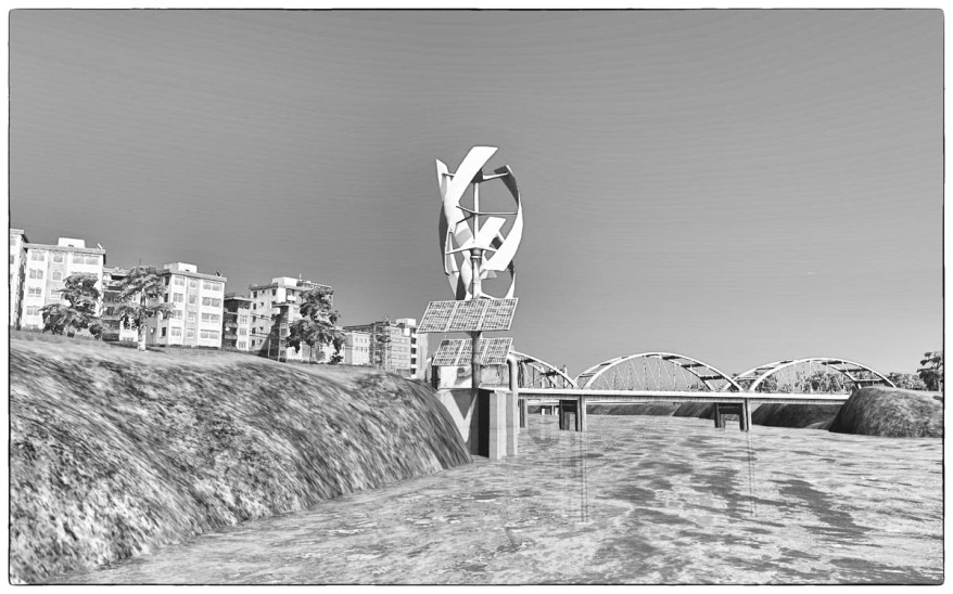 Cities Skylines Screenshot Black and White