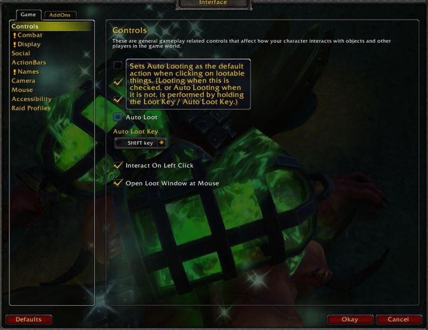 How to enable Auto Loot in World of Warcraft