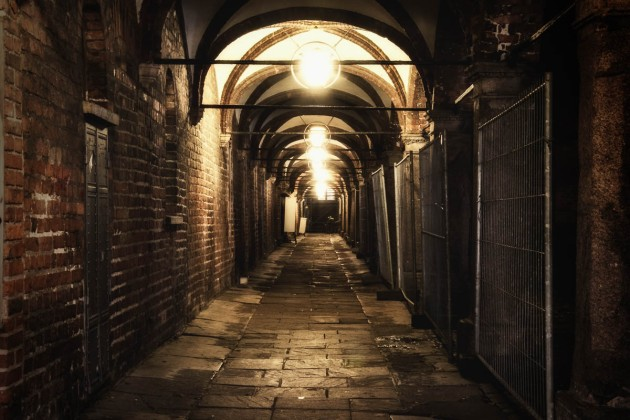 Old alley in Lubeck