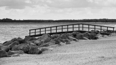 Baltic Sea Coast in Black and White