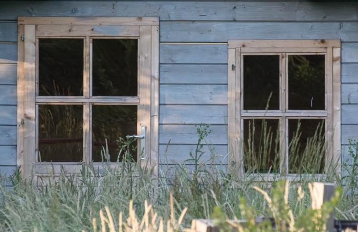 abandoned garden shed