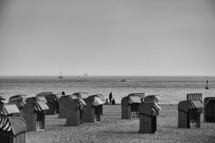 Travemünde Beach in Black and White