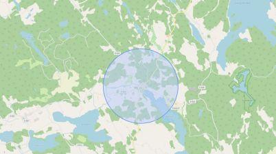 Open Street Maps Radius Tool