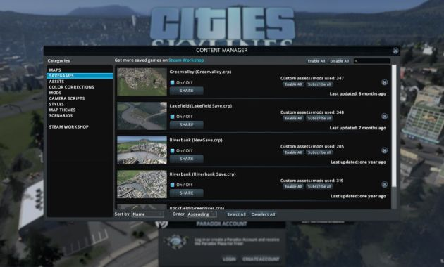 cities skylines content manager