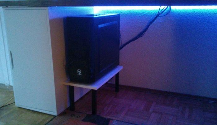 diy pc stand for my ikea alex karlby desk 5