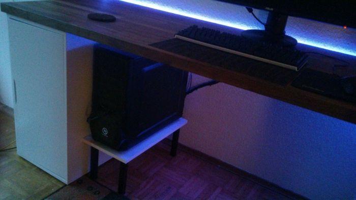 diy pc stand for my ikea alex karlby desk 6