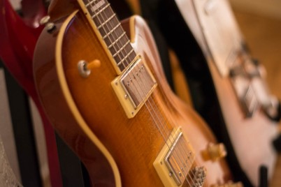 A Photo of Guitars