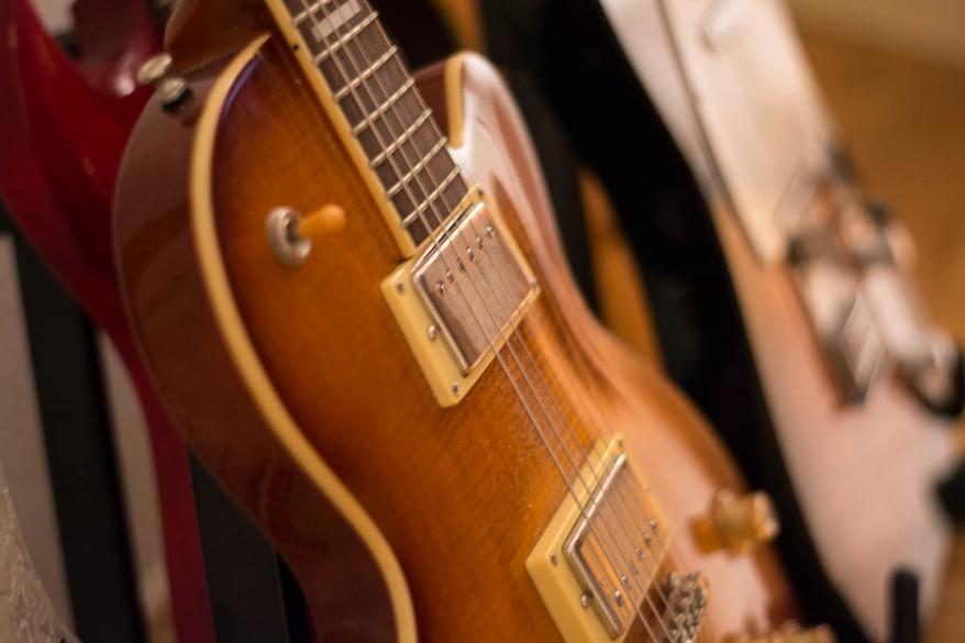 A Photo of Guitars