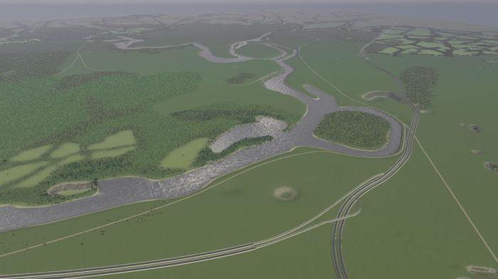Cities Skylines Map Work in Progress