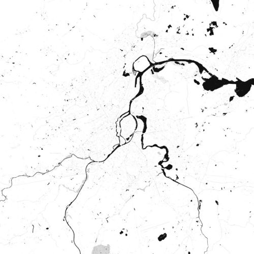 extracted river map