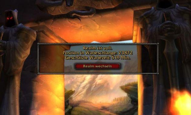 wow classic queue times screenshot