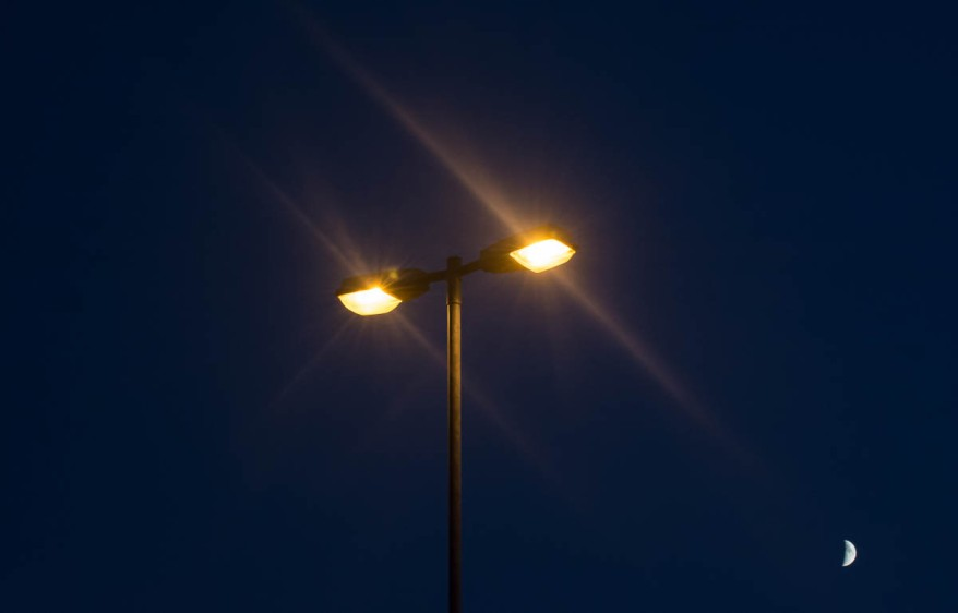 lamps at night