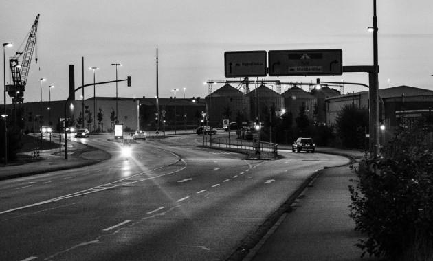 near the wharf at night