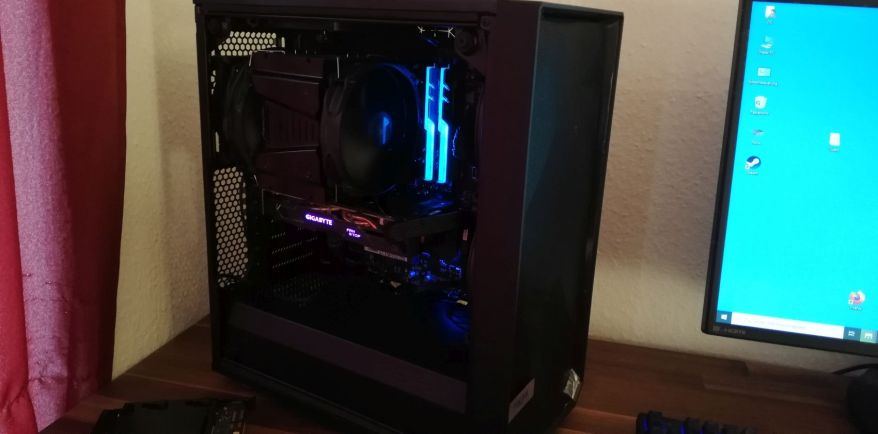 new pc without tempered glass side