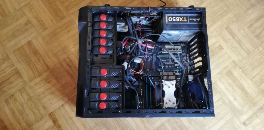 old case poor cable management