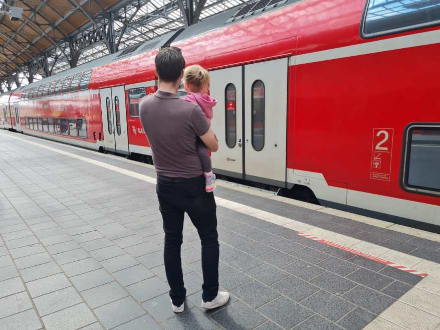 watching trains