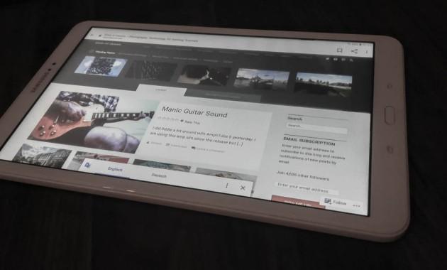 beacon theme on tablet